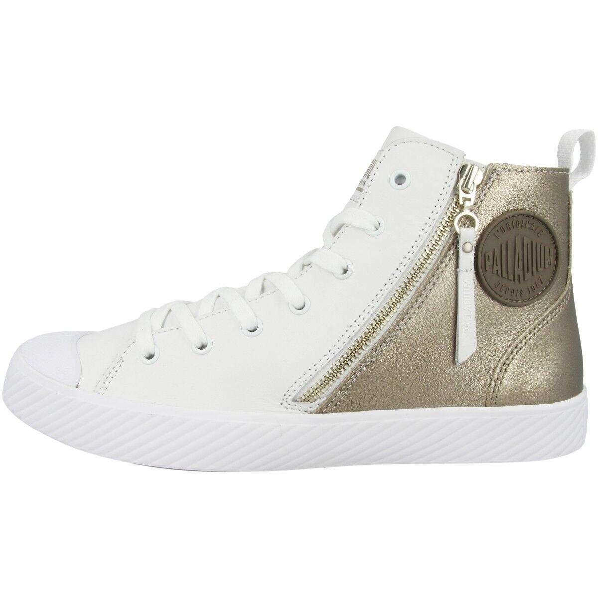 Palladium pallaphoenix Z MTL MTL MTL zapatos High Top cortos blanco Light oro 75952-145  descuento de ventas