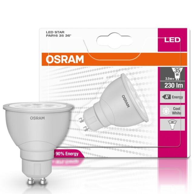 Osram Led Star Par16 35 36 3 9w Gu10 Led Lampe 4052900000000 Ebay
