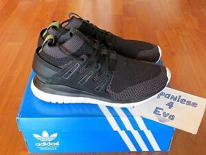 huge selection of fd543 e2c7a Details about Adidas Tubular Nova PK Primeknit Shadow Black Forest S74917  Men Size 9.5