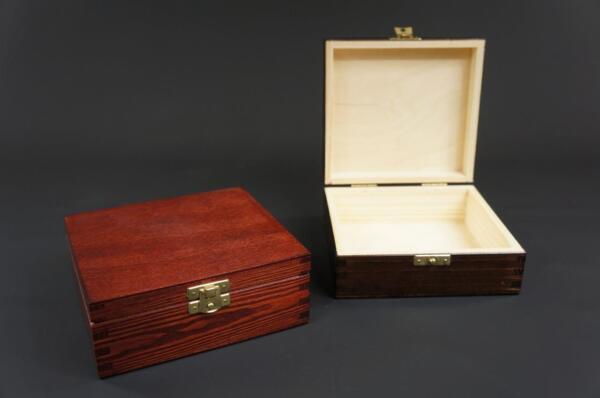 1 X Mahogany Wooden Jewellery Treasure Chest Keepsake Box Trinket Storage Psk15m Elegant En Stevig Pakket