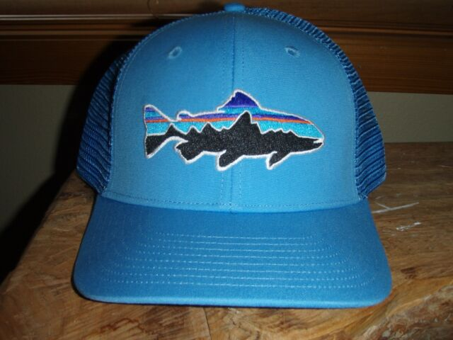 7fdf4035b Patagonia Fitz Roy Trout Fly Fishing Skipper Blue Trucker Hat
