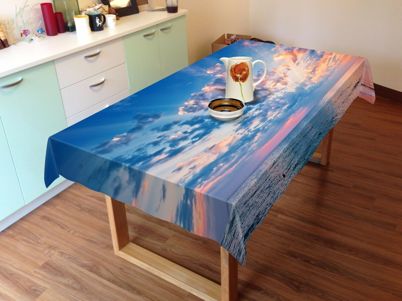 3D bleu cloud9 Tablecloth Table Cover Cloth Birthday Party Event AJ WALLPAPER AU