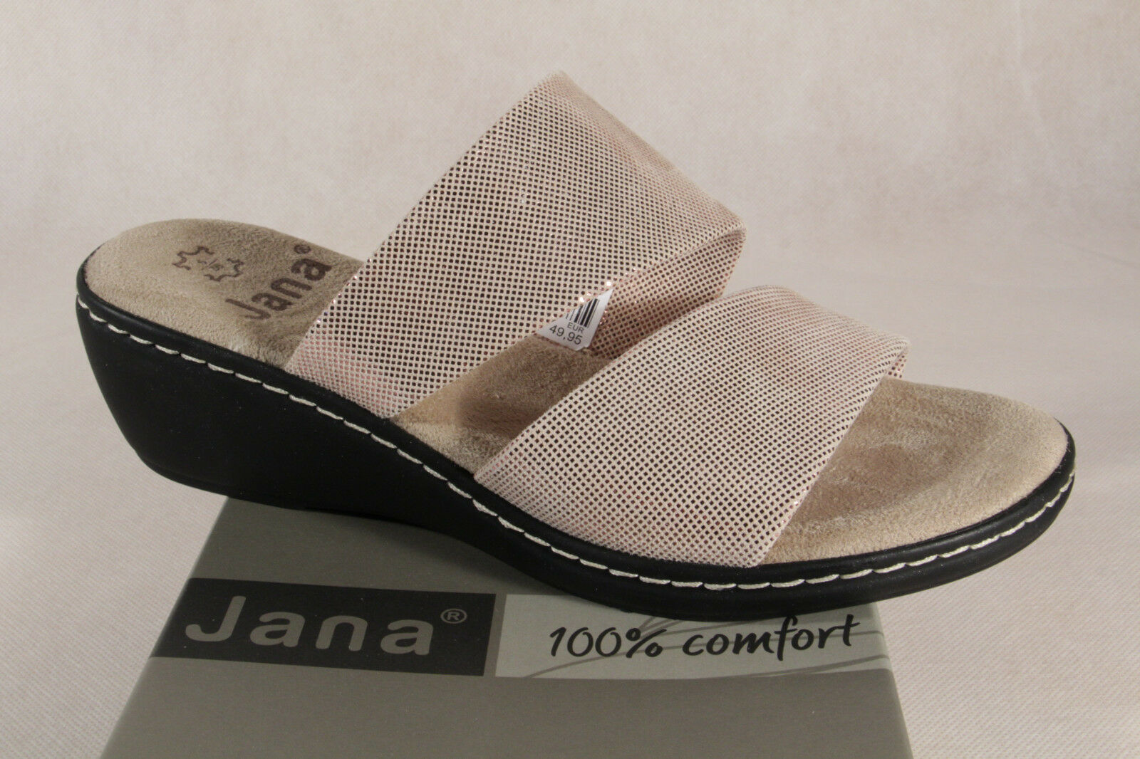 Jana Ladies Slippers Sandals Real Leather pink 27215 New