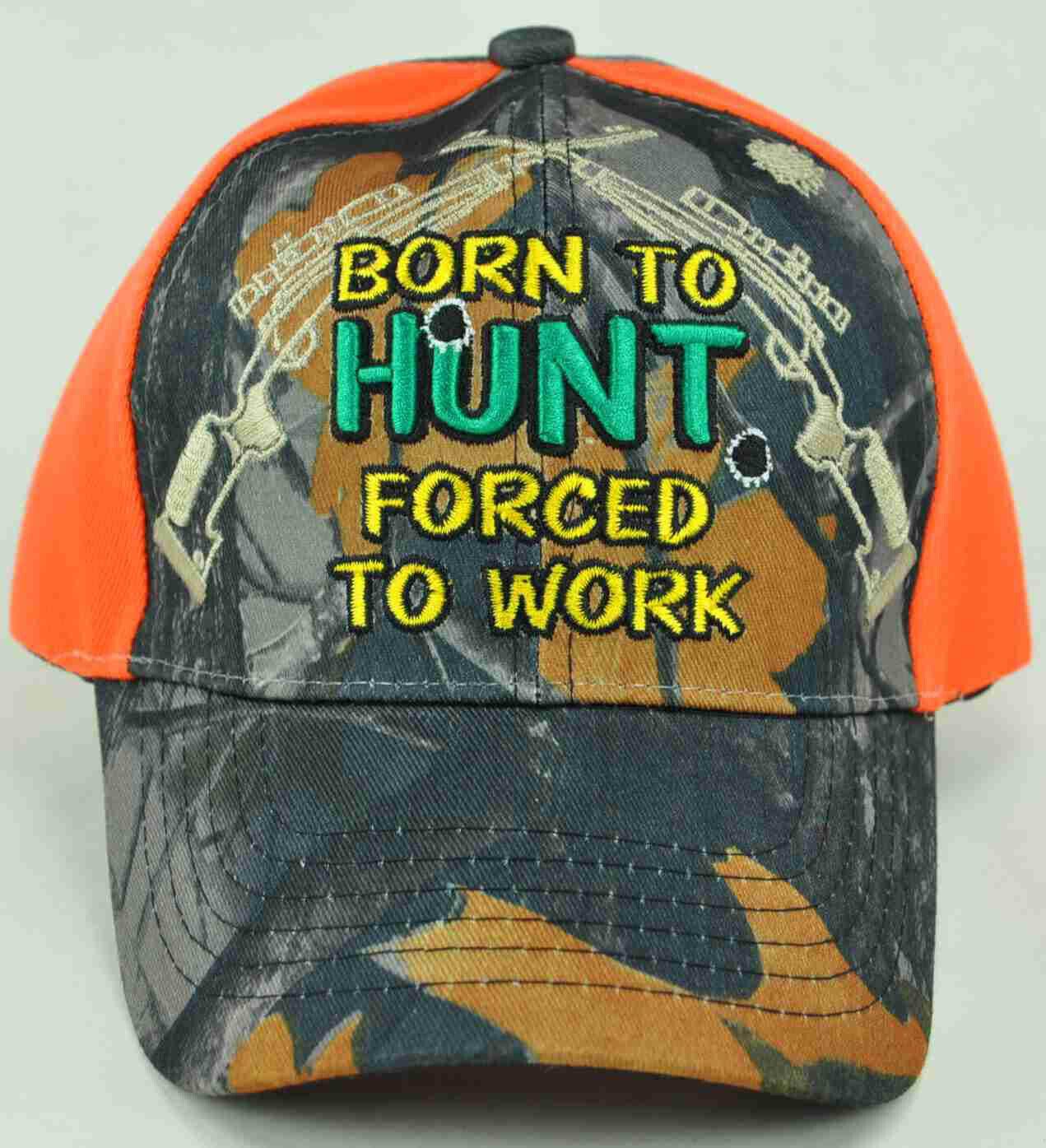 ! nuevo! nacido para cazar obligados a trabajar Camo Orange Cap Hat