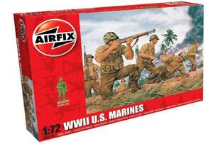 AIRFIX-1-72-WW2-US-MARINES-LEATHERNECKS-MODEL-KIT-SOLDIERS-WORLD-WAR-II-A00716