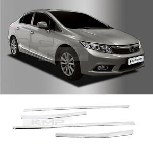 Chrome side skirt accent garnish molding trim b764 for for 1993 honda civic window trim