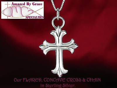 925 Sterling Silver Polished Fleur De Lis Cross Shaped Pendant