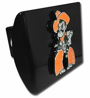 Oklahoma State Cowboys Pistol Pete Black Chrome Metal Hitch Cover Ncaa Licensed