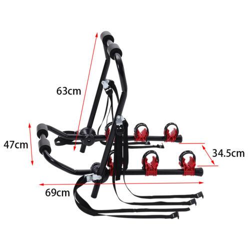 3 Bicycle Rear Rack Bike Car Cycle Carrier Universal Fitting Saloon Hatchback UK