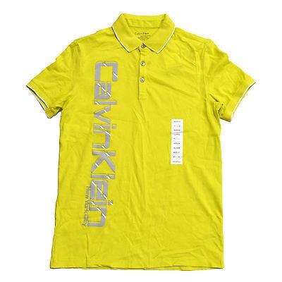 Calvin Klein Polo Shirt Mens Body Fit Slim Sportwear Graphic Logo Nwt V541