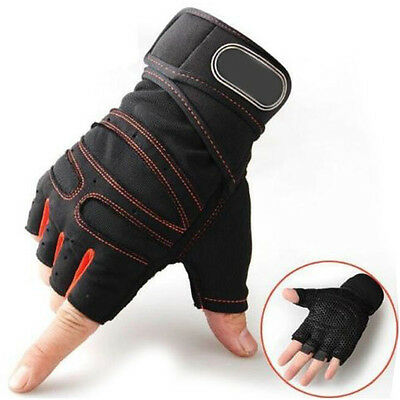 Weight lifting Gym Gloves Training Fitness Wrist Wrap Workout Exercise Sports SG