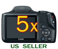 5x Clear Lcd Screen Protector Guard Shield Film For Canon Powershot Sx530 Hs