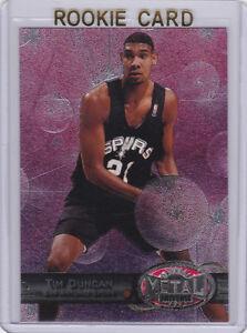Details About Tim Duncan Rookie Card 199798 Skybox Metal Nba San Antonio Spurs Basketball Rc