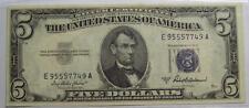 1953-A  FIVE DOLLAR Silver Certificate NOTE  Crisp UNC w/ Light Spots #29 B22