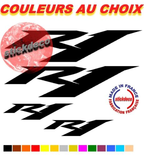 x4  Autocollant adhésif Yamaha YZFR1 YZF  MOTO CARENAGE CASQUE Stickers R1