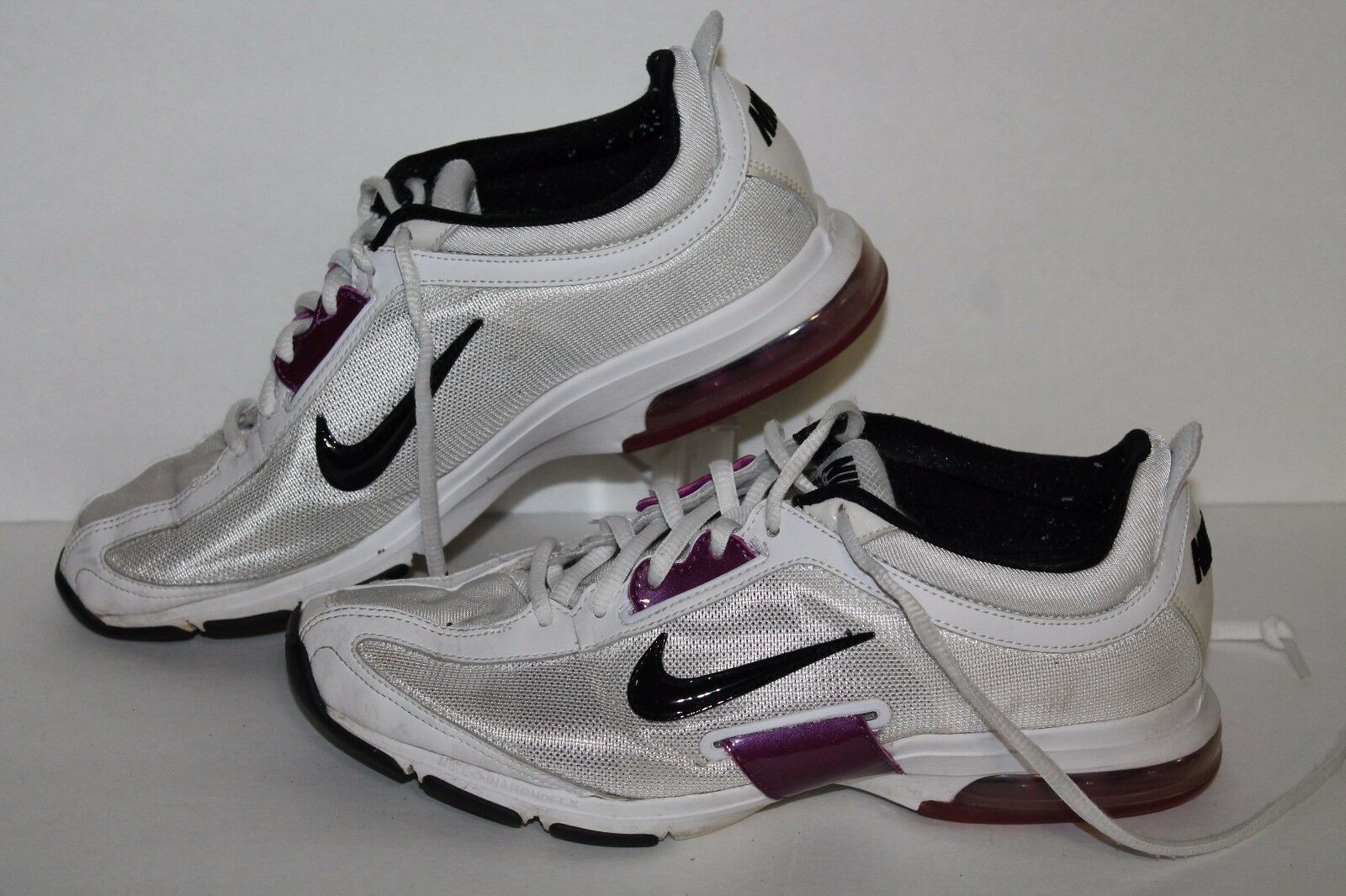 Nike Air Essential Trainer Running Shoes, Wht/Ppl/Blk, Women's 8.5 Comfortable and good-looking