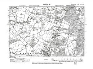 Cowplain Waterlooville Horndean S Anmore Old Map Hampshire