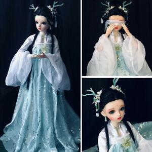 60cm-BJD-Doll-1-3-Kugelgelenk-Maedchen-Puppe-Gesichts-Makeup-Augen-Kleidung