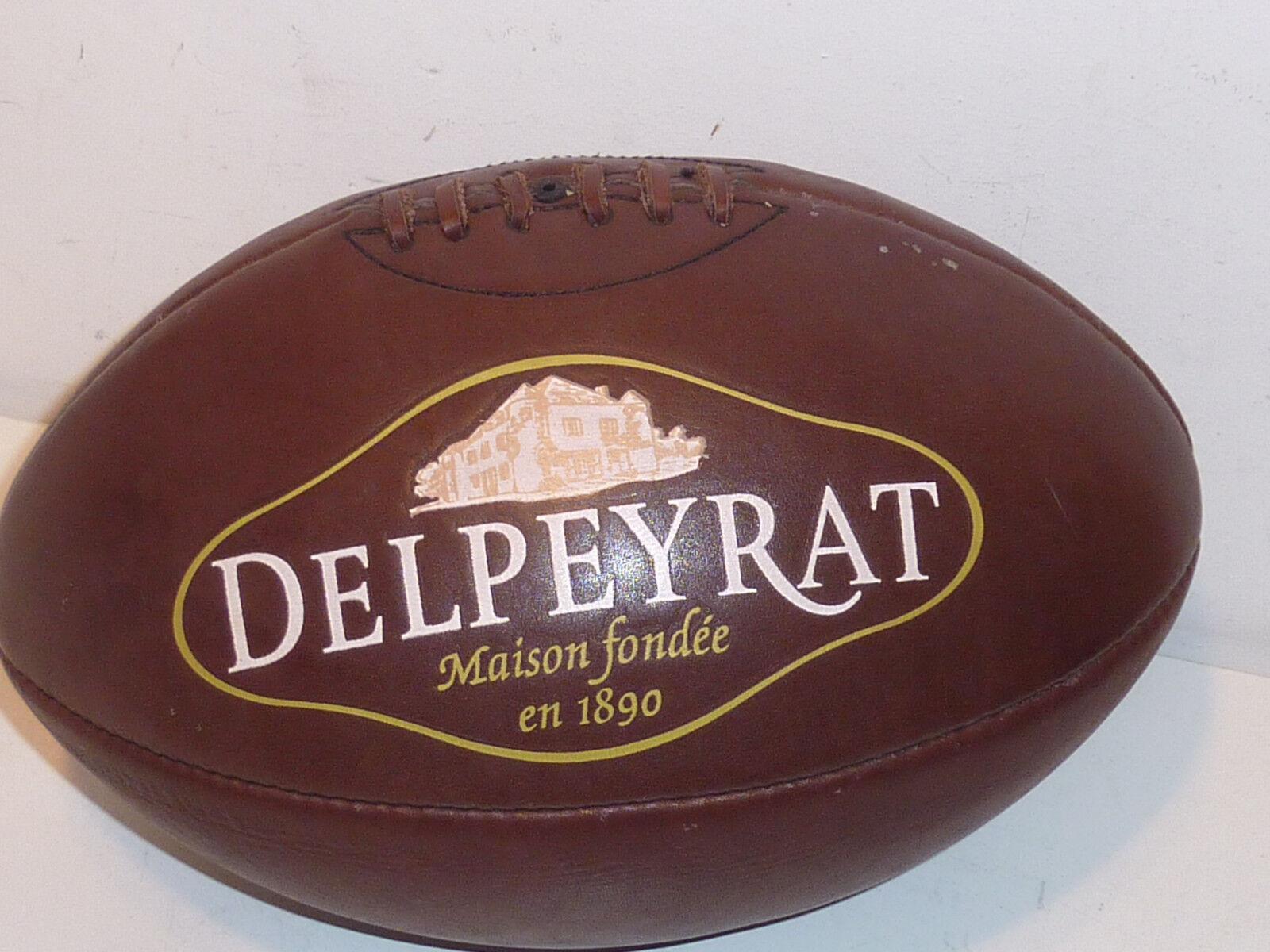 SIGNE vintage BALLON de RUGBY delpeyrat 1890 1890 1890  viande de canard jambon caviar 40210b