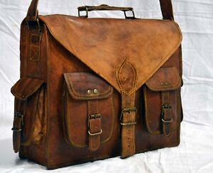 acbb15c71e4b Men s Women Genuine Leather Handbag Briefcase Laptop Shoulder Bag ...