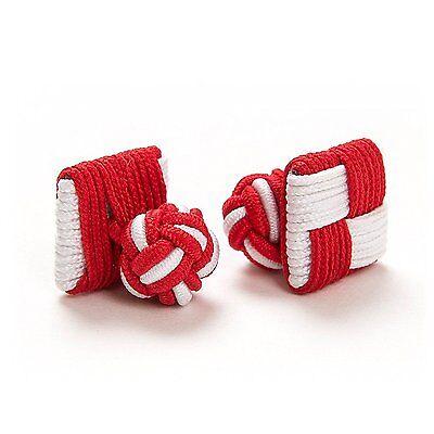 Manschettenknöpfe 1 Paar Seidenknoten Cufflinks London Gentleman PINK