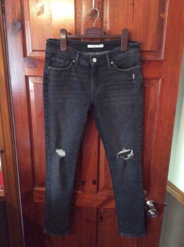 Original Taglia 29 Jeans senza sbiaditi Nuovo da Levi etichette neri donna g6F6Sqw