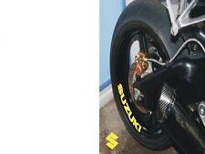 4 X Pegatinas De Rueda Suzuki Motocicleta/Motocross calcomanías pegatina de vinilo 4 X