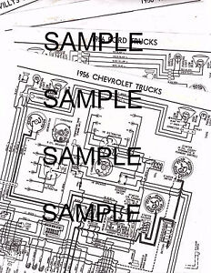 1956 WILLYS JEEP CJ-5 4 CYLINDER 56 WIRING GUIDE DIAGRAM ...