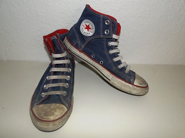 Converse All Star Chucks Sneaker Turnschuhe High Taylor Stoff Jeans Gr. 3,5   36