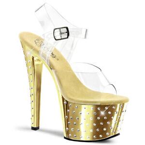 Pleaser Womens Stardust-701//C//GCH Sandal