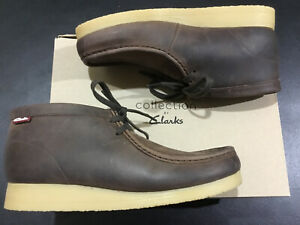 New-Clarks-Mens-Stinson-Hi-Brown-Oily-Chukka-Boot-Sz-10-M-Up-9-EU-43