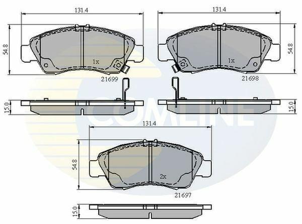 Brake Pads Set 0986494299 Bosch 06450SAAE50 06450SAAG00 45022SAAE50 45022SAAE51