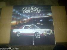 1981 81 Dodge DIPOMAT DEALERSHIP BROCHURE AD Mopar
