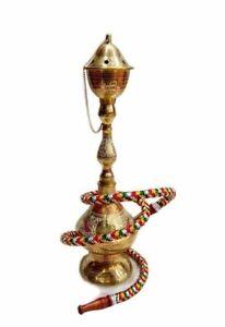 ANTIQUE-ROYAL-BRASS-HOOKAH-ARABIAN-HOOKHA-18-039-INCH-LONG-HOOKHA