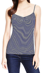 79f9cacf2e249 Image is loading EX-M-amp-S-NAVY-STRIPED-CAMI-VEST-
