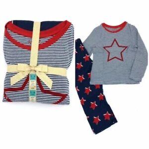 New Ex M/&S Girl/'s  Pyjama Set Navy Star Blue Pyjamas 9 10 11 12