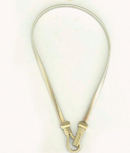 Gold Silver Women Buckle Full Metal Waist Plate Chains Waistband Metallic Belt