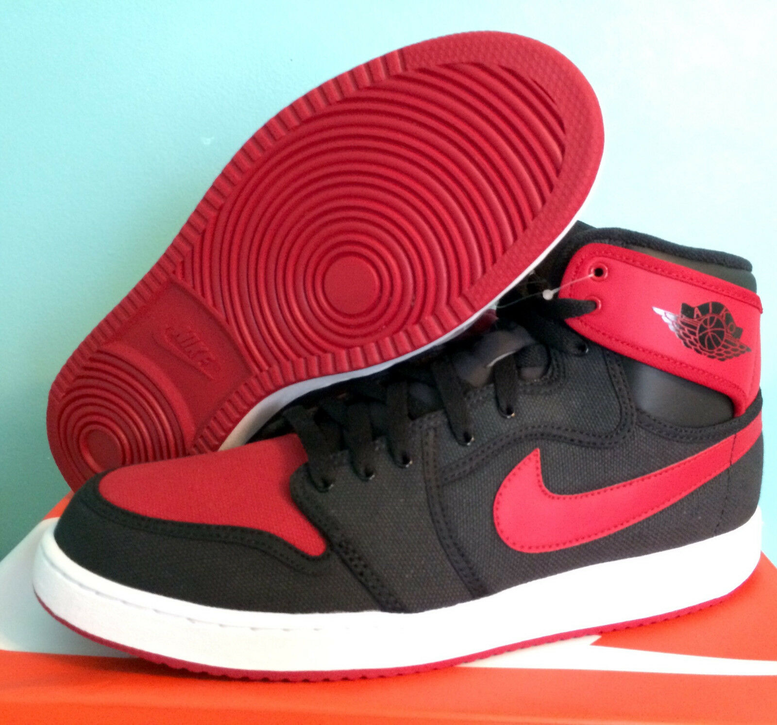 NIKE AJ1 KO HIGH OG BRED, size 11.5 Deadstock Factory Laced with receipt