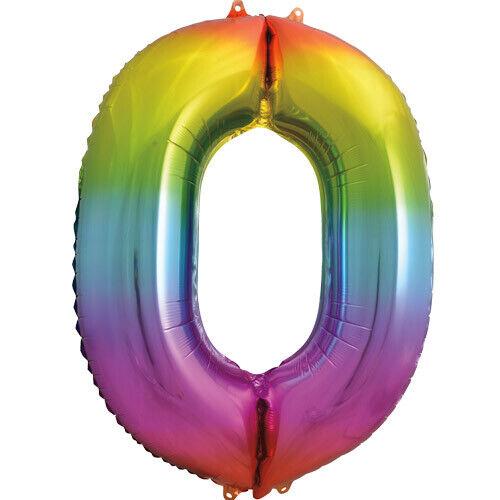 environ 86.36 cm Rainbow Coloré Foil Numéro ballon 34 IN