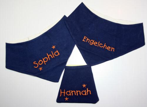 Dreieck-Tuch Namen Be Be/'s Nickituch Halstuch Dreieckstuch blau//orange