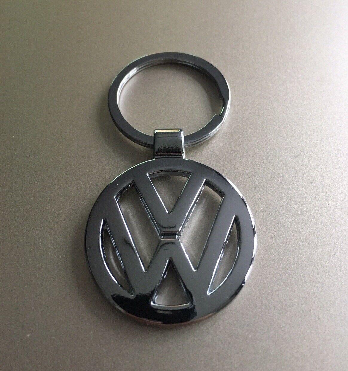 'VOLKSWAGEN' Keyring Chrome Keychain Official Logo Silver Key Ring Car Chain