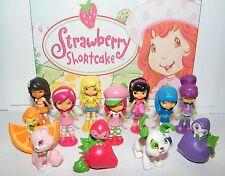Strawberry Shortcake Figure Set of 12 with Berrykins, Custard, Cupcake More!
