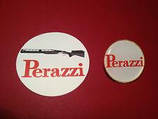 PERAZZI SPORTING GUNS: GOLD PLATED  BADGE &  FREE PERAZZI  STICKER