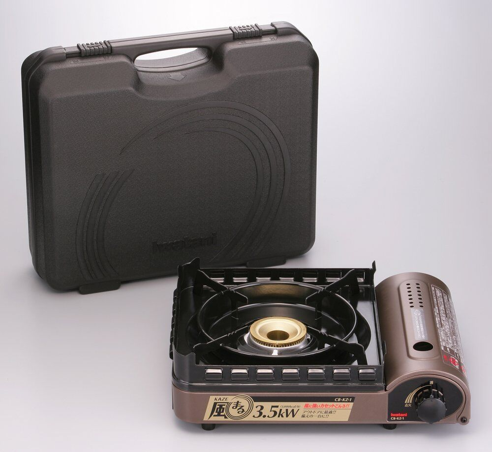 IWATANI Portable Cooking Stove Kaze maru CB-KZ-1-A Outdoor Gas Stove Camp Japan