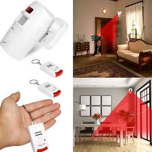 Inalambrico-Sistema-2-Remoto-Alarma-IR-Sensor-Movimiento-Detector-Casa-Seguridad