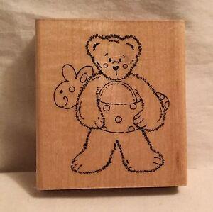 JRL-Design-Q286-Beary-Sunny-Summer-Bear-Stamp-Wood