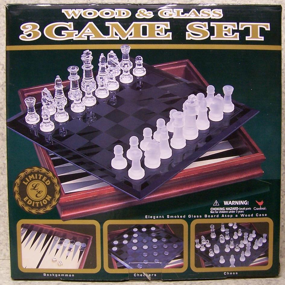 Schack Checkers Backgammon 3 i 1 spelruta ny