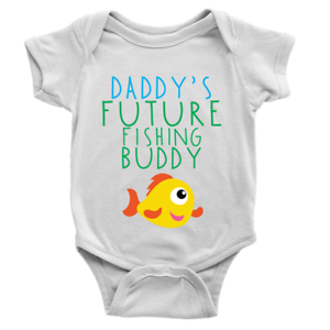 Daddy/'s Future Fishing Buddy Babygrow Funny Gift New Baby Present Body Suit