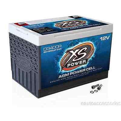 D3400R XS Power Sealed AGM 12 Volt 3,300 Amp Lead Acid Battery w/ Hardware