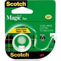 Scotch Magic Tape 104 + Handheld Dispenser,new, 2 Rolls ,lowest Price, Free S/h